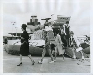 SFO Helicopter Airlines Hovercraft at the Oakland International Airport, 1965