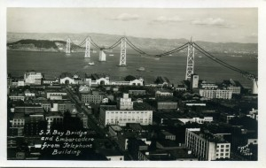S.F. Bay Bridge and Embarcadero from Telephone Building