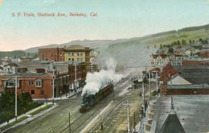 S. P. Train, Shattuck Ave., Berkeley, California