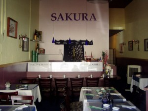 Sakura Shushi and Grill, interior, Alameda, California