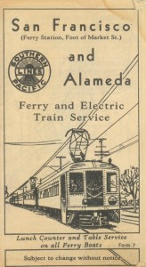 San Francisco and Alameda Ferry and Electric Train Service, via Alameda Pier, Southern Pacific Lines, 1932