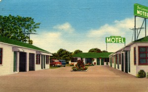 San Lorenzo Motel, State Highway 17, Eastshore Freeway, second street off Lewelling. Blvd., mailed 1957