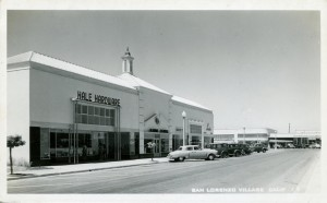 San Lorenzo Village, California, showing Hale Hardware Store