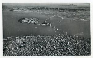 San Francisco - Oakland Bay Bridge and Exposition, Mt. Diablo  seen in distance