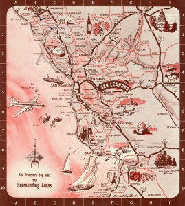 San Francisco Bay Area and Surrounding Areas 1954