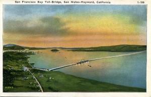 San Francisco Bay Toll-Bridge, San Mateo - Hayward, California