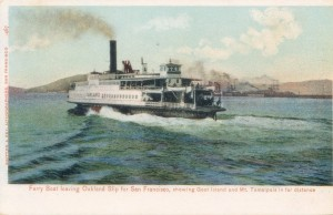 Ferry Boat Leaving Oakland Slip for San Francisco, showing Goat Island