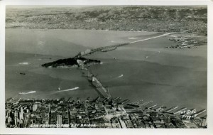 San Francisco and Bay Bridge 1936