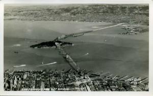 San Francisco and Bay Bridge 1936