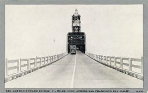 San Mateo - Hayward Bridge, 7 1/2 Miles Long, Across San Francisco Bay, Calif.