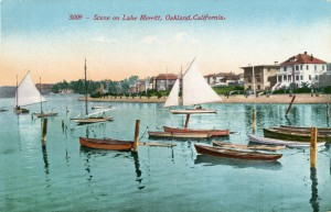 Scene on Lake Merritt, Oakland, California