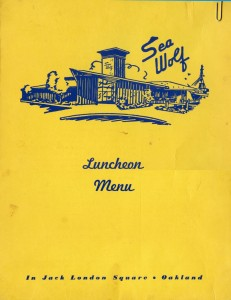 Sea Wolf Lunch Menu - Jack London Square, Oakland, California