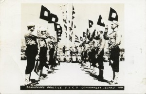 Semaphore Practice, U. S. C. G., Government Island, mailed 1943