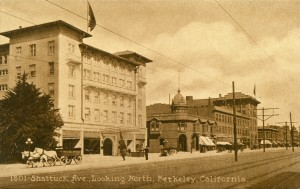 Shattuck Ave., Looking North, Berkeley, California