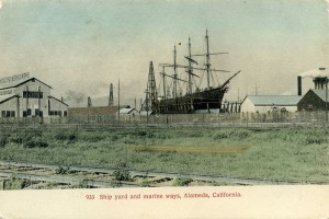 Ship yard and marine ways, Alameda, California