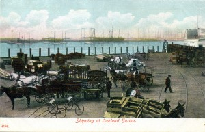 Shipping at Oakland harbor