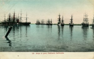 Ships in port, Oakland, California