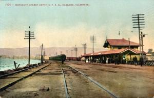 Sixteenth Street S.P.R.R. Depot, Oakland, California mailed 1910