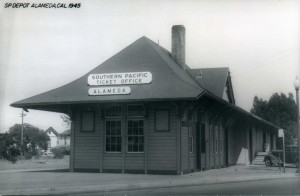 Southern Pacific Ticket Office, Alameda, Cal., 1945