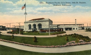 Southern Paific Co.'s Depot, Sixteenth St., Oakland, California mailed 1919