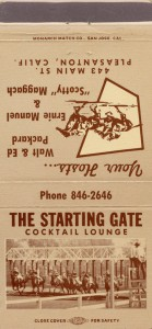 Starting Gate, Cocktail Lounge, 443 Main St., Pleasanton, California