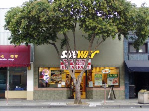 Subway Sandwiches, 1407 Park Street, Alameda, California Sept. 2004