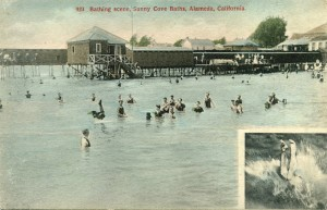 Bathing scene, Sunny Cove Baths, Alameda, California