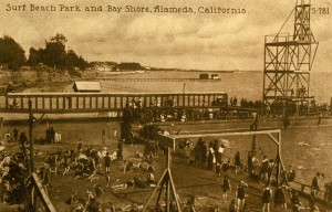 Surf Beach Park and Bay Shore, Alameda, California