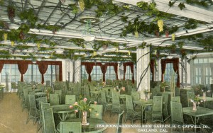 Tea Room adjoining Roof Garden, H. C. Capwell Co., Oakland, California