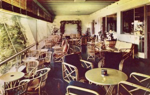 Terrace Cocktail Lounge, Hotel Claremont, mailed 1950