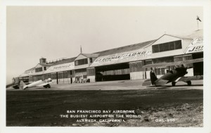 The Busiest Airport in the World, San Francico Bay Airdrome, Alameda, California, old postcard