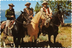 The Cartwrights, Little Joe, Ben and Hoss, Ponderosa Ranch, Incline Village, Nevada