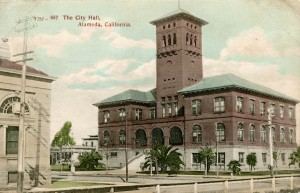 The City Hall, Alameda, California, mailed 1908