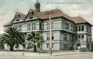 The Mastick School, Alameda, California mailed 1907