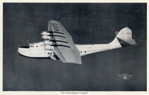 The Philippine Clipper, sister ship of China Clipper, Alameda to Manila every Wednesday.