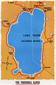 The Ponderosa Ranch, Lake Tahoe, Nevada, Map