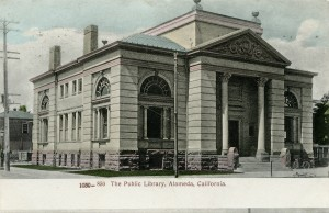 The Public Library, Alameda, California, mailed 1908