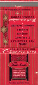 The_Door_Knob_Restaurant_and_Pancake_House_4500_Williams_St_Fremont_Calif_matchbook