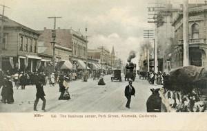The business center, Park Street, Alameda, California