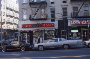 Tower Delicatessen, York Ave and E. 88th St., NYC, Jan. 1981