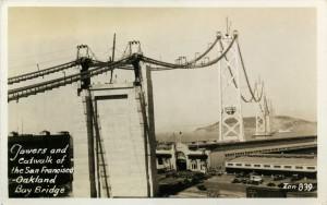 Towers and Catwalk San Francisco - Oakland Bay Bridge