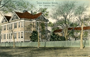 Union Grammer School, San Leandro, Cal. mailed 1909