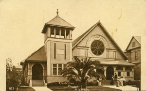 Unitarian Church Alameda, California mailed, 1912