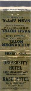 University Hotel, 2057 University Ave., Berkeley, Calif.