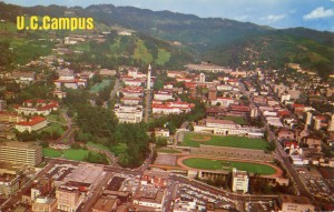 University of California, aerial view of U. C. Campus at Berkeley