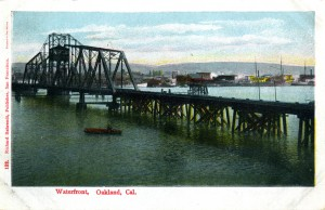Waterfront, Oakland, Cal., mailed 1908