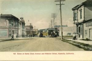 Scene at Santa Clara and Webster Street, Alameda, Califoria