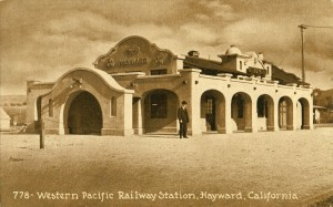Western Pacific Railway Station, Hayward, California, mailed 1911