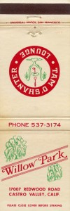 Willow_Park_17007_Redwood_Road_Castro_Valley_Calif_matchbook