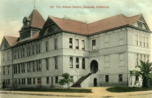 Wilson School, Alameda, California, mailed 1909